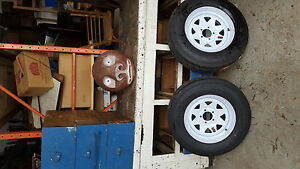 Two new q5in. Trailer Tires and Rims