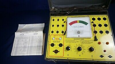 Test-o-matic Tube Tester L-18 Lights Up Untested Hickok Model 533a Chart Parts