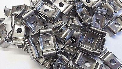 10x Gittermatten Längsverbinder RAL6005 moosgrün Doppelstabmattenzaun