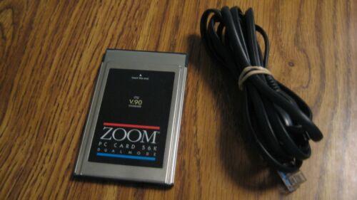 ZOOM Laptop 56K Dual Mode ITU v.90 Model 2975L Fax Modem With Cord