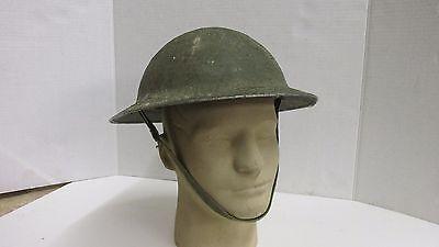 WW1  EARLY LINER BRITISH BRODIE HELMET WW2 ?