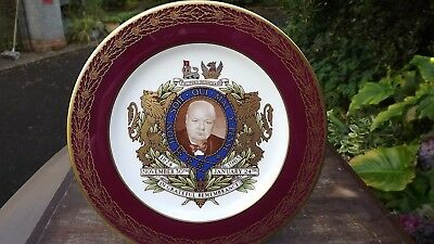 NOV1874-JAN 1965 SPODE BONE CHINA THE CHURCHILL COMMEMORATIVE REMEMBRANCE PLATE
