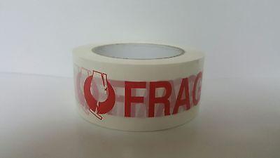 6 PACK Fragile Marking Tape Handle w/ Care Shipping Packing-2.0mil 330' FREE S/H