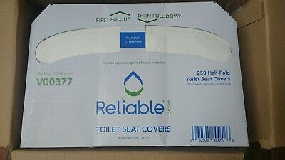 Toilet Seat Cover Reliable Half Fold 11 X 13.25 X 15.25 Inch Case of 5000
