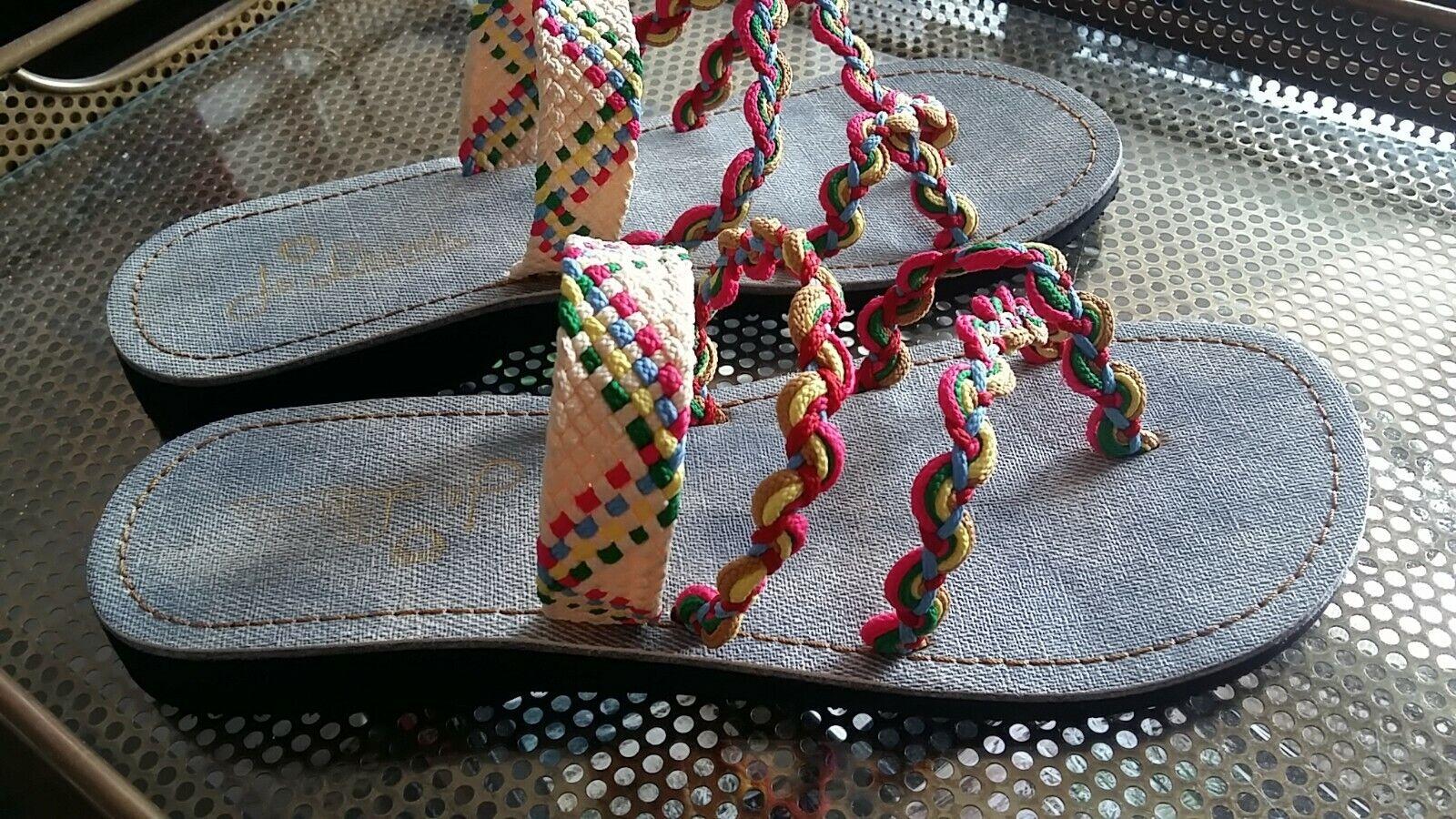 Damen Gr. 42 Sommer Schuhe Sandalen Hippie bunt *neuwertig*