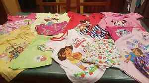 7 x Pairs of Girls Size 5 Summer Licensed Character Pj's Andrews Farm Playford Area Preview