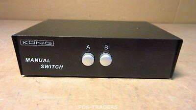 König CMP-SWITCH50 - 2 port VGA Switch 2-Port, 15-polig Manual Switch Schwarz