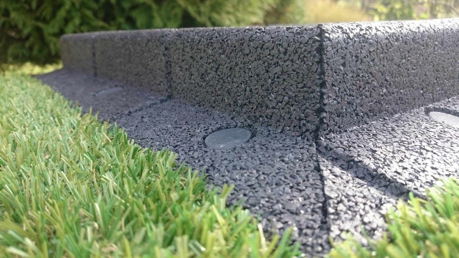 Pack of 10 flexi border rubber lawn edge garden border for Garden edging