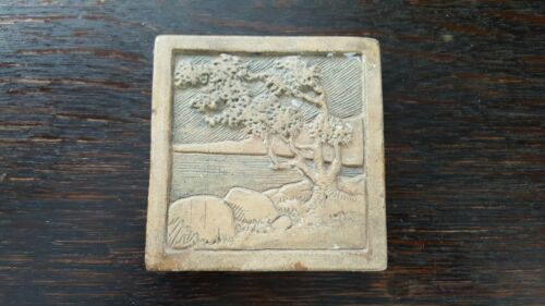 Antique Arts & Crafts Claycraft Scenic Landscape Tile California Mission 3