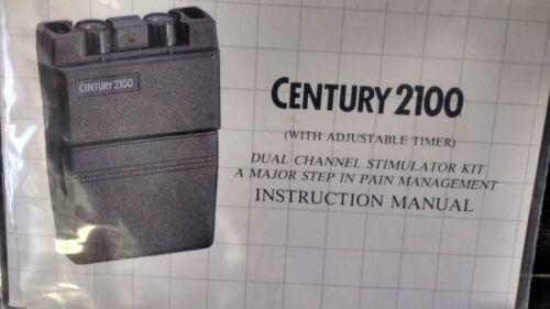 Century 2100 tens unit w/ case & 3 Boxes reusable polymer electrodes (BRAND NEW)