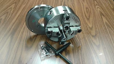 8 4-jaw Self-centering Lathe Chuck Topbottom Jaws W. D1-4 Adapter Plate-new