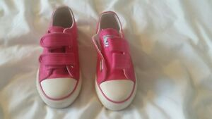 Girls infant Size 9. Pink Andy-Z Zelcro Pumps/ shoes