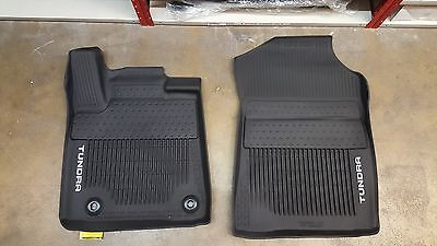 2014 - 2017 Tundra Floor Mat Liners Rubber All Weather Crew Max OEM 3pc