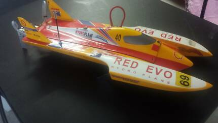 rc boat hull yellow hydro
