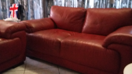 Red Leather Lounge Suite