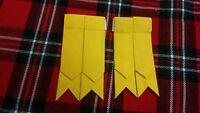 Tc Nuevo Hombre Kilt Calcetines Bandas Amarillo Tartán/falda Escocesa Hose -  - ebay.es
