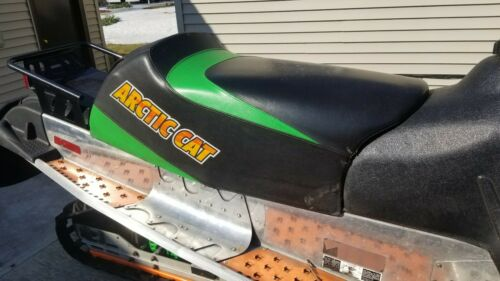 05 06 Arctic Cat 440 F5 F6 F7 Firecat Seat Assembly TALL GREEN BLACK 03 04