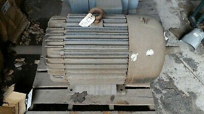 100 Hp Delco 1200 Rpm 230460 Volt Fr. 445uz  Tefcbb Double Shaft Rare Motor