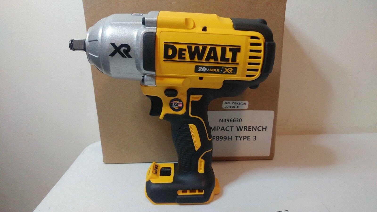 """Dewalt DCF899HB 20v MAX* XR Brushless 1/2"""" Impact Wrench DCB"""