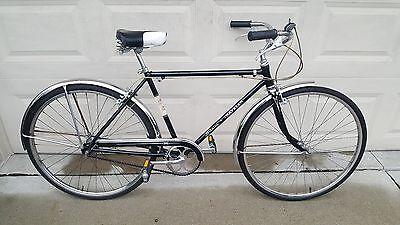 "Schwinn 1965 Traveler Vintage Men's Bicycle 26"" 3 Speed Black"