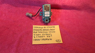 Lincoln 274398 Air Solenoid Valve 3-way 24 Volts 8.5 Watts 38 Free Shipping