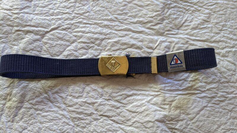 Boy Scouts of America Cub Scout Navy Blue Belt w/fitness merit award