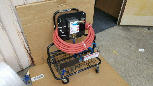 Ecolab Kay Foaming Station with Hoses & Rolling Cart Quaternary Sanitizer