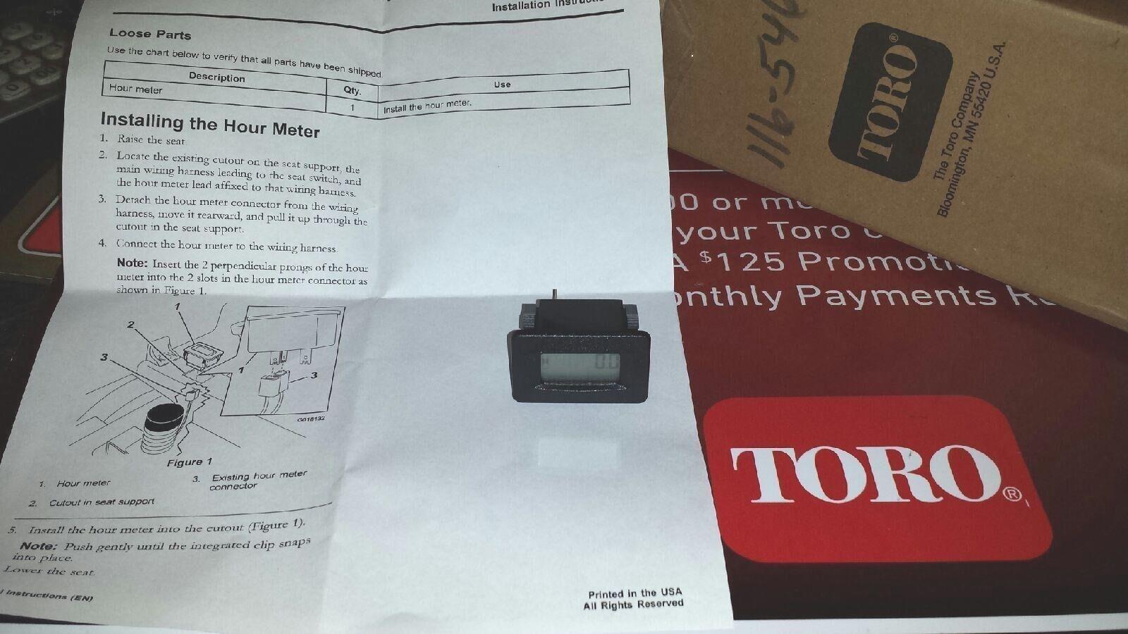 Toro Timecutter Hour Meter 120 5498 116 5461 Oemtoro Zeroturn Lawn 42 Wiring Diagram Tractor