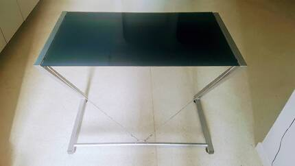 DESK or console - glass top.