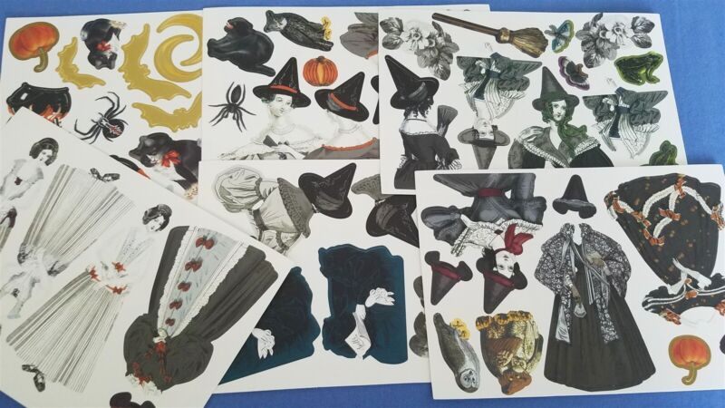 Anna Griffin Witchy Halloween Card Making Die Cuts Witches Dolls