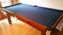 Blue felt, Slate Pool Table and accessories Eden Hill Bassendean Area Preview