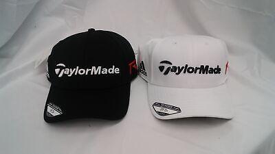 New TaylorMade Golf Crusader 2 Pack Adjustable Hat Black & White Adidas Logo