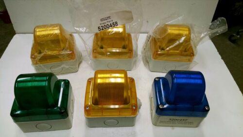 Qty 6 Knapp / Gewiss Industrial Indicator Light Yellow Green Blue 5200458 24V 5W