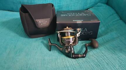 NEW Shimano Stella SW10000PG fishing reel, never used.