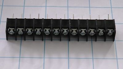 Barrier Block Screw Terminal Strip 12 Pos 30a 300v 12-22awg Wirewrap Tails