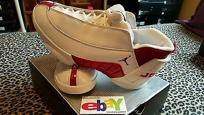 e4aa80c1836c Air Jordan XV 15 Low OG MOC SL 2000 WHITE DEEP RED 136035 161 2018