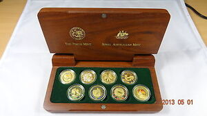 Sydney Olympic 2000 Eight by $100 Gold Coin  Collection in Good Condition