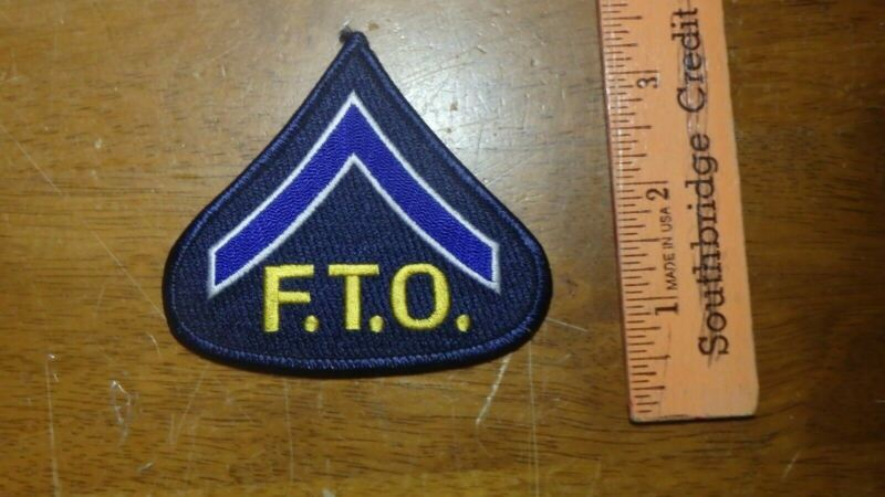 CONNECTICUT STATE POLICE  FTO  OBSOLETE  PATCH BX L#92