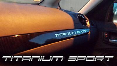TITANIUM SPORT Aufkleber Spiegel Folie Armaturenbrett Ford S-Max,KUGA,Mondeo ...