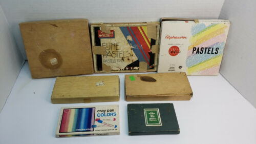 Vintage Pastel sets lot of 7 Grumbacher Faber Castell Weber Costello Talens