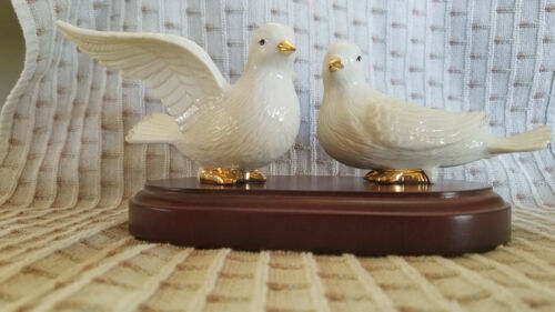 Mikasa Dove Figurine Pair with Stand
