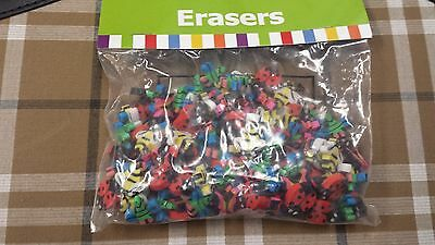 144 Mini Insect Erasers-Butterfly, Ladybug, Bee-Great party favor; counting item