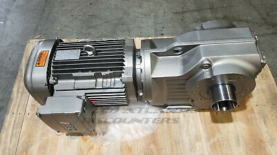 Sew Eurodrive 3 Stage 60hz Hollow Shaft Torq Loc Helical Bevel Gearmotor 177431