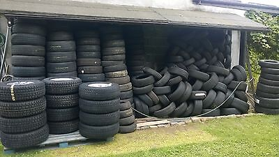 Wholesale sales of used tyres. All in good conditon, high quality and checked ! Prices starts from 6 GBP.