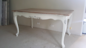 FRENCH PROVINCIAL INDUSTRIAL RECYCLED SHABBY TIMBER DINING TABLE Lane Cove North Lane Cove Area Preview
