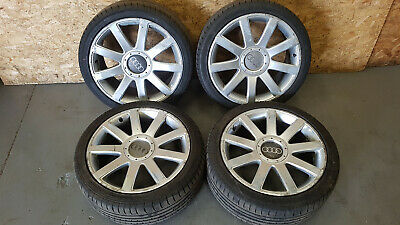 AUDI TT MK1 1.8T COUPE 98-2006 9 SPOKE ALLOY WHEELS & FREE TYRES SET 225/40 R18