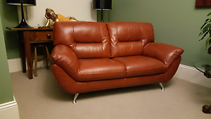"""Red leather """"Riga"""" design 2 seater Norwood Norwood Area Preview"""
