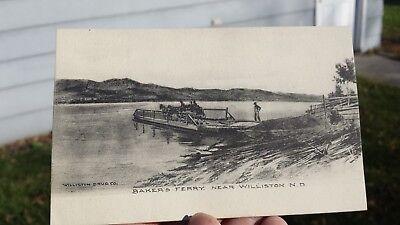 Vintage Postcard Baker's Ferry Near Williston North Dakota
