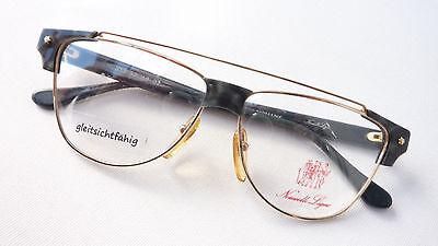 Balkenbrille Gestell extravagant Metall Kunststoff Fassung unisex Luxus size L