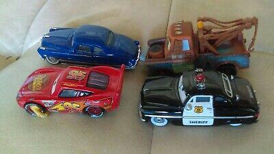 Disney Pixar Cars Rare Lot Impound Lightning McQueen The Sheriff Doc Mater 1:55